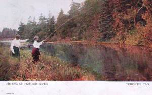 Toronto postcards-Fishing on the Humber River front