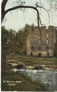 Toronto postcards-Old Mill on the Humber front