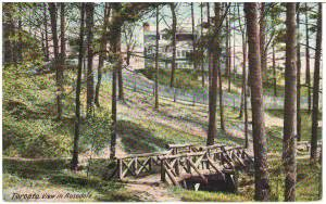 Toronto postcards-View in Rosedale front