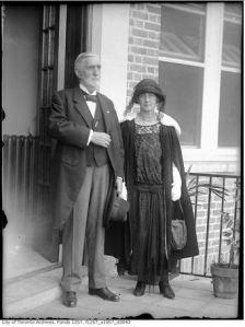 Mr. and Mrs. Gage between 1915 and 1921