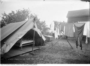 Tent exterior Oct. 29, 1913