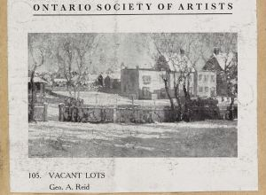 O.S.A. exhibition 1912 prog. Vacant Lots p331