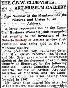 Visit to Art Museum Gallery Star April 19, 1911 p13a